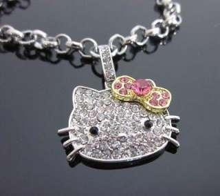 hello kitty lovely pink golden bow bracelet gift Z25