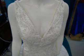 VENUS Bridal Wedding Gown Dress # 24 White Ivory Rhinestones Long