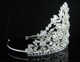 Wedding/Bridal crystal veil tiara crown headband CR204