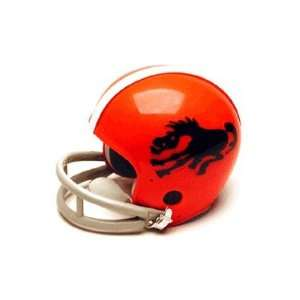 Denver Broncos (1962) Miniature Replica NFL Throwback Helmet w/2 Bar