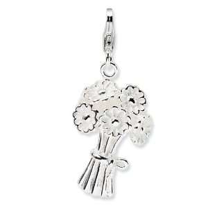 Amore La Vita Sterling Silver Bouquet Flowers Charm with