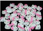 20 Resin Hello Kitty Buttons/Bow pi​nk K12