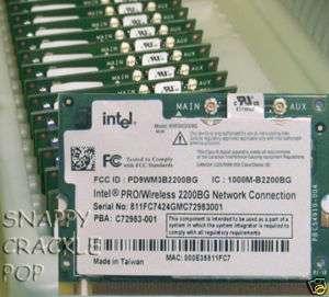 New Dell Latitude Wireless WIFI Card D400 D410 D500 D505 D510 D600