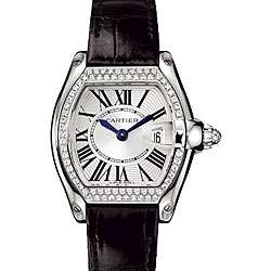 Cartier Roadster Womens White Gold Watch