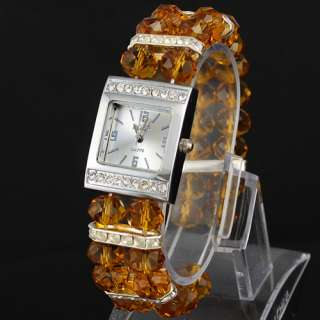 12 Different Color Beads Jelly Ladies Girls Womens Quartz Wrist Watch