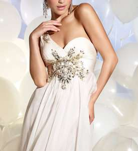 P615 TERANI prom dress *PRICE MATCH GUARANTEE* LONG IVORY gown 0 2 4 6