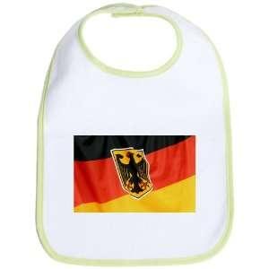Baby Bib Kiwi German Flag Waving