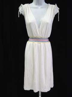 NWT YASB Ivory Embroidered Long Dress Sz L