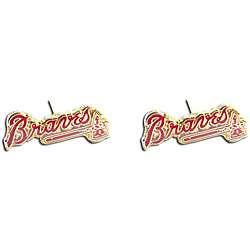 Atlanta Braves MLB Charm Post Stud Logo Earring Set