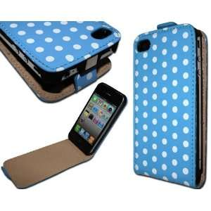 Dot Flip Leather Case Pouch Cover Holster for Apple iPhone 4 4S at&t