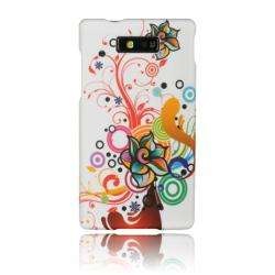 Luxmo Autumn Flower Rubber Coated Case for Motorola Triumph/ WX435