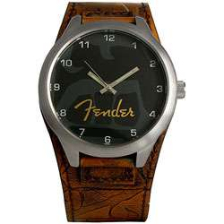 Fender Mens Gothic Rock Tan Leather Watch