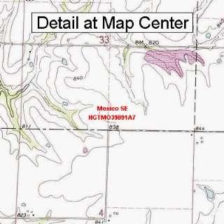 USGS Topographic Quadrangle Map   Mexico SE, Missouri