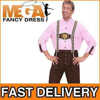 Deluxe German Bavarian Beer Man Fancy Dress Costume NEW