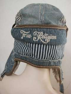 NWT True Religion Denim helmet hat in Dark navy