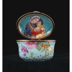 Mother and Child Portrait Rochard French Limoges Box