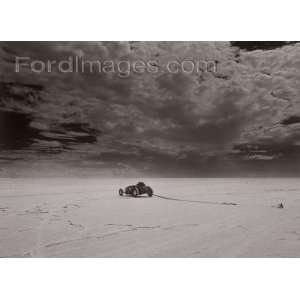 David Perry   El Mirage Rat Rod Racer Cloud Giclee Canvas