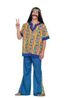 Hippie Dude 70s Big and Tall Mens Halloween Costume