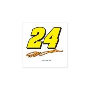 NASCAR JEFF GORDON OFFICIAL LOGO TEMPORARY TATTOO 4 PACK