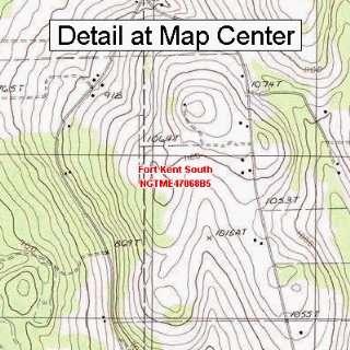 USGS Topographic Quadrangle Map   Fort Kent South, Maine