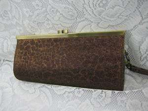 CLASSIC COIN BAG PURSE STYLE WALLET CLUTCH BAG BROWN