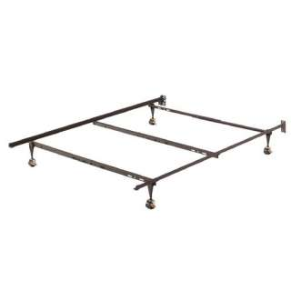 Source Industries Bed Frame, Bed Frame with Casters, Metal Bed Frame
