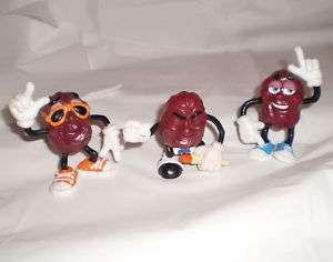 California Raisins 2 1/2 Set 3 Singing Dancing 1987