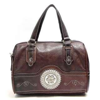 Rhinestone Flower Shoulder Bag Tote Hobo Satchel Purse Handbag