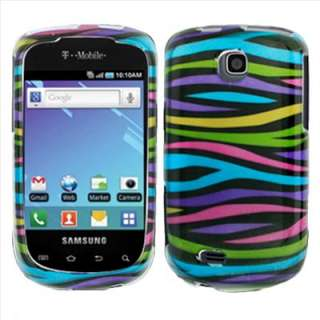 T499 T Mobile Rainbow Zebra Hard Case Cover +Screen Protector