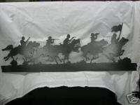 Horse Cavalry Scene Metal Plasma Art Wall Hanging