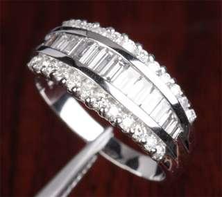 Unique 2.01CT VS SI DIAMOND 14K WHITE GOLD Channel Engagement WEDDING