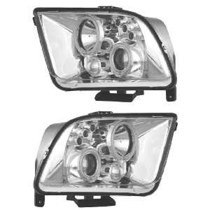 FORD MUSTANG 05 09 PROJECTOR HEADLIGHT HALO CHROME CLEAR