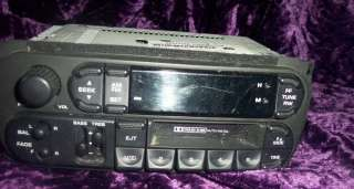 02 DODGE CHRYSLER AM FM CASSETTE RADIO DURANGO NEON P56038931AB
