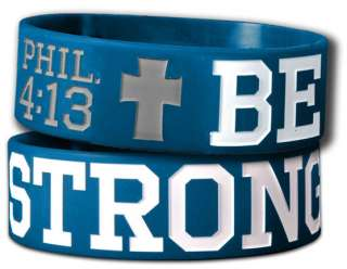Be Strong Wide Silicone Christian Rubber Wristband