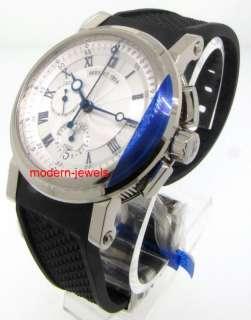 Breguet Marine Auto Chronograph Mens White Gold 5827BB