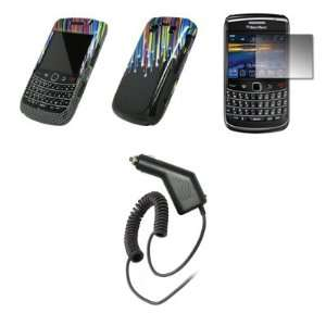 BlackBerry Bold 9700   Carbon Fiber Rainbow Stars Design