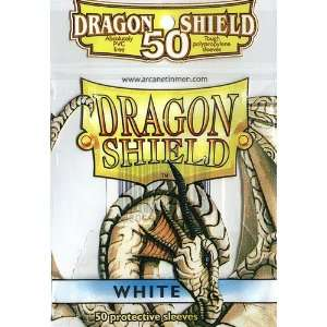 com Dragon Shield Standard Deck Sleeves White 50 Count Toys & Games