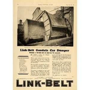 1924 Ad Link Belt Gondola Car Dumper Conveyors Hoists