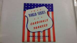 1943 World Series Program Cardinals Vs. Yankees Reprint
