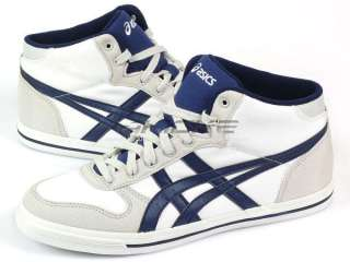 Asics Aaron MT CV White/Medieval Blue Mens 2011 Classic Canvas H009N