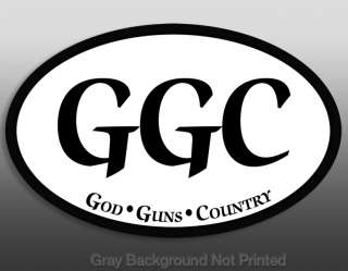 God Guns & Country Sticker  nra gun decals GCC decal us
