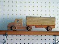 Wooden Toy Tanker Tractor Trailer