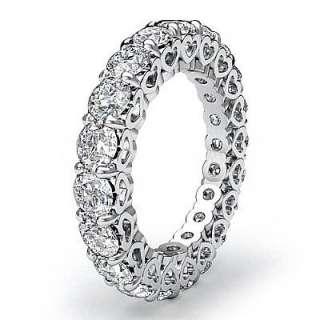 ct Round New Diamond Wedding Ring Eternity Band 14k White Gold sz4