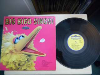 Sesame Street BIG BIRD SINGS CTW 22059 LP 1974
