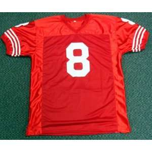 Steve Young Autographed San Francisco 49ers Jersey Mounted