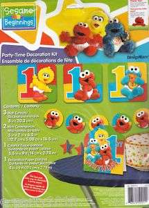 SESAME STREET First 1st Birthday Party DECORATION KIT