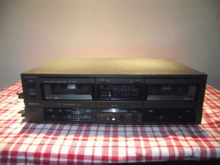 DOUBLE CASSETTE DECK #RS TR157 W/ REMOTE WORKS AND SOUNDS GOOD