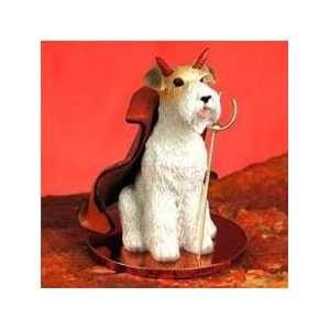 Wire Haired Fox Terrier Little Devil Dog Figurine