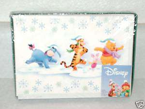 NIB Disney Pooh, Eeyore & Tigger Christmas cards