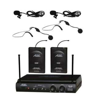 Channel Headset & Lavalier Wireless Microphone System Cordless